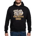 Maltichon Dog Dad Hoodie (dark)