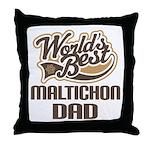 Maltichon Dog Dad Throw Pillow