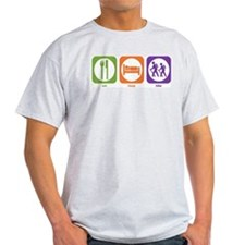 Eat Sleep Hike Ash Grey T-Shirt