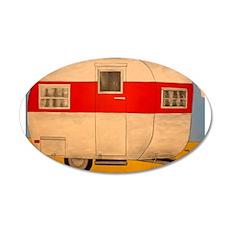 Camper Ham 20x12 Oval Wall Decal