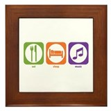 Eat Sleep Music Framed Tile