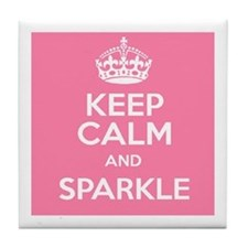 Keep Calm and Sparkle Tile Coaster