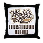 Mastador Dog Dad Throw Pillow