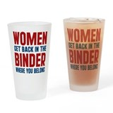 Cute Women and romney Drinking Glass
