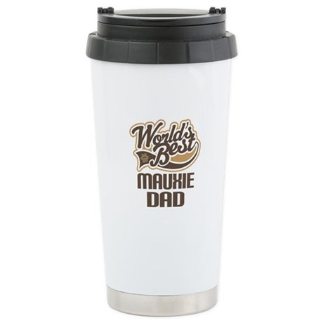 Mauxie Dog Dad Ceramic Travel Mug