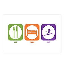 Eat Sleep Surf Postcards (Package of 8)