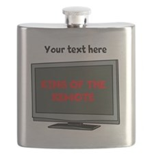 Personalized King of the Remote Flask