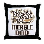Meagle Dog Dad Throw Pillow