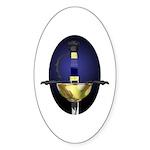 Spanish Rapier: Blue Oval Sticker