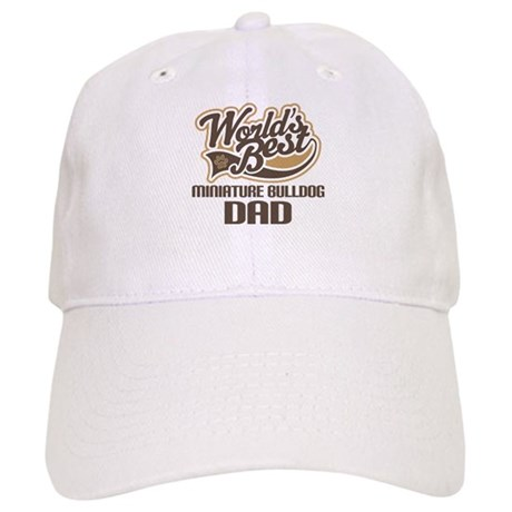Miniature Bulldog Dog Dad Cap