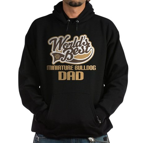 Miniature Bulldog Dog Dad Hoodie (dark)