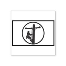 Lineman Sticker (Rectangular) Sticker
