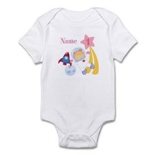 Personalized 1 Astronaut Girl Infant Bodysuit