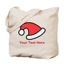 Santa Hat Picture and Text. Tote Bag
