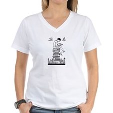 Reading Girl atop books Shirt