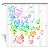 Colored bubbles Shower Curtain