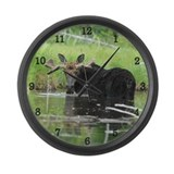 Handsome bull Large Wall Clock