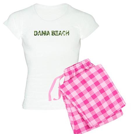Dania Beach, Vintage Camo, Women's Light Pajamas