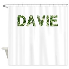 Davie, Vintage Camo, Shower Curtain