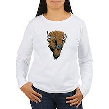 Buffalo Head Drawing T-Shirt