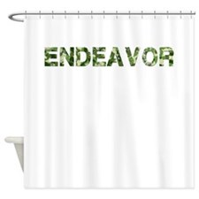 Endeavor, Vintage Camo, Shower Curtain