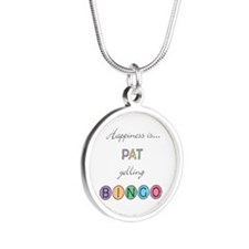 Pat Yelling BINGO Silver Round Necklace