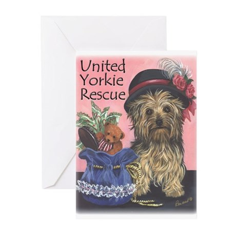United Yorkie Rescue Greeting Cards (Pk of 10)