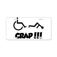 Funny Wheelchair Aluminum License Plate