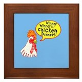 Winner Chicken Dinner Framed Tile