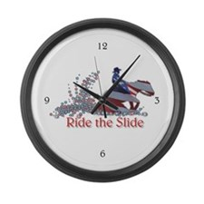 Cute Rein Large Wall Clock