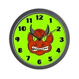 Grrr Red Monster Wall Clock