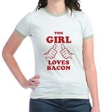 This Girl Loves Bacon T