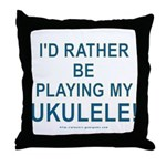 Play Ukulele Throw Pillow