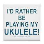 Play Ukulele Tile Coaster