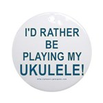 Play Ukulele Ornament (Round)