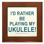 Play Ukulele Framed Tile