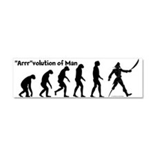 """Arrr""volution of Man Car Magnet 10 x 3"