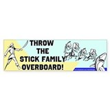 Stick Family Overboard Bumper Bumper Sticker