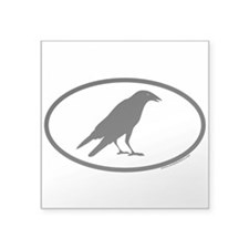 Black Crow Euro Oval Sticker