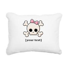 [Your text] Cute Skull Girl Rectangular Canvas Pil