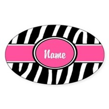 Pink Zebra Personalized Decal