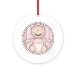Baby Girl Keepsake Ornament (Round)
