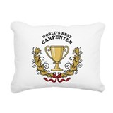 World's Best Carpenter Rectangular Canvas Pillow
