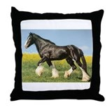 Funny Riding horses Throw Pillow