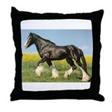 Funny Horse riding Throw Pillow