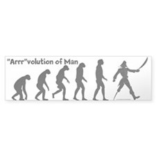 """Arrr""volution of Man Bumper Bumper Sticker"