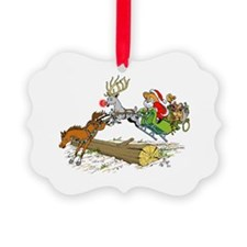Cute Happy new year merry christmas Ornament