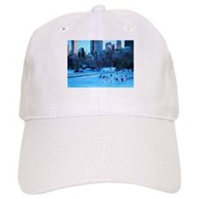 Cute Ice skating christmas Baseball Cap