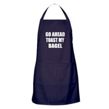 Toast My Bagel Apron (dark)