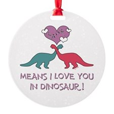 Cute Dinosaur heart Ornament